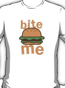 Bite me with cute hamburger T-Shirt