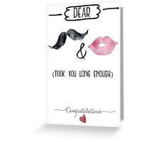 Congrats to the Bride and Groom Greeting Card