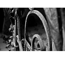 Abstract Ironwork Photographic Print