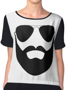Beard and Sunglasses Chiffon Top