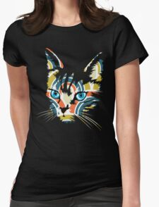 POP ART CAT Womens Fitted T-Shirt