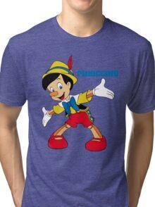 Pinocchio Cartoon Movie Funny Tri-blend T-Shirt