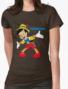Pinocchio Cartoon Movie Funny Womens Fitted T-Shirt