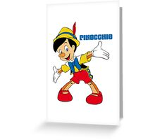 Pinocchio Cartoon Movie Funny Greeting Card