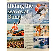 Kelly Slater at SurfSho in Bondi, published in the Wentworth Courier Photographic Print