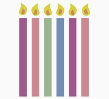 Cute birthday candles many colours Kids Clothes