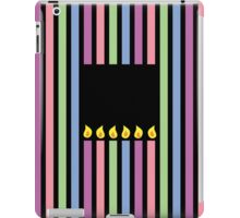 Cute little birthday candles in a rectangle iPad Case/Skin