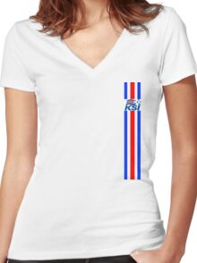 Euro 2016 Football - Iceland  Women's Fitted V-Neck T-Shirt