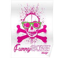 FunnyBONE Pink Skull Poster