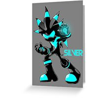 The Hedgehog Sonic Silver Greeting Card