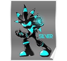 The Hedgehog Sonic Silver Poster