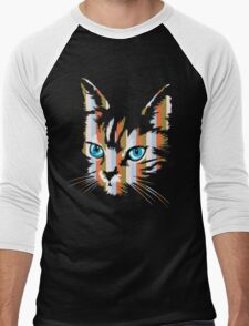 POP ART CAT Men's Baseball ¾ T-Shirt