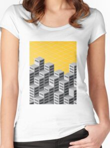 Isometric background Women's Fitted Scoop T-Shirt