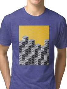 Isometric background Tri-blend T-Shirt