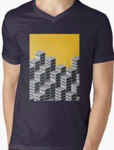 Isometric background Mens V-Neck T-Shirt