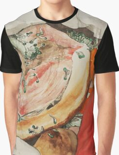 Roast pork and vegetables on skirt Graphic T-Shirt