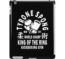 Tyrone Spong Kickboxing Gym iPad Case/Skin