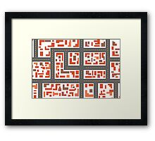 City maps Framed Print