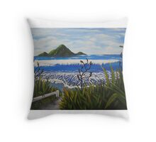 Whale Island NZ Throw Pillow
