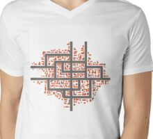 City maps Mens V-Neck T-Shirt