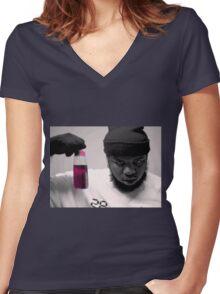 Trigga Maxo Women's Fitted V-Neck T-Shirt