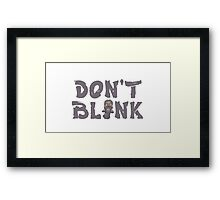 "Doctor Who ""Don't Blink"" Framed Print"