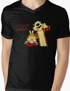 Calvin & Hobbes Mens V-Neck T-Shirt