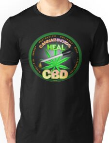 CBD Cannabinoids in Hemp oil Cures  learn truth about use of hemp oil to cure illness and pains. Unisex T-Shirt