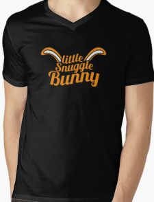 Little Snuggle Bunny rabbit awesome baby design Mens V-Neck T-Shirt