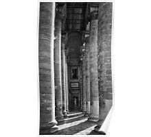 Large Pillars - Architecture In Monochrome Poster