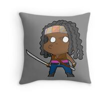 TWD Michonne chibi Throw Pillow