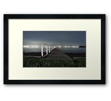 Jetty on Lake Framed Print