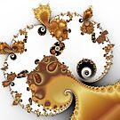 Butterscotch Spirals and Mandelbrot by Mark Eggleston