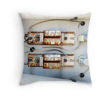 Electrics Throw Pillow
