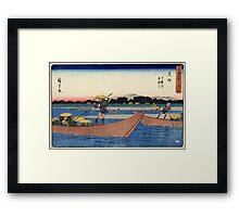 Mitsuke - Hiroshige Ando - 1838 - woodcut Framed Print