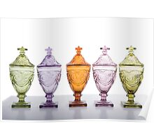 Five Candy Jars Poster