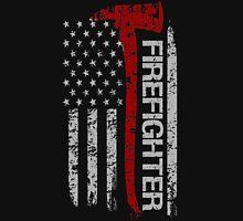 Firefighter American Pride Flag T-Shirt Unisex T-Shirt