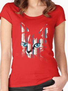 POP ART CAT Women's Fitted Scoop T-Shirt