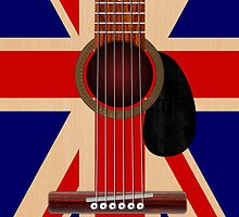 Union Jack Guitar by Packrat