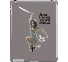 River Tam Can Kill You iPad Case/Skin