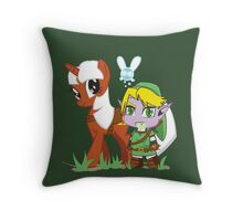 The Legend of Zeldestia (no text version) Throw Pillow