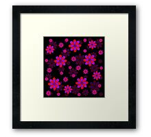 Purple Red Flowers Framed Print