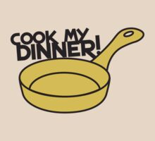 Cook my DINNER! with yellow saucepan by jazzydevil
