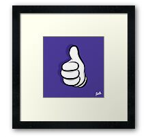 Thumbs Up Hand Framed Print