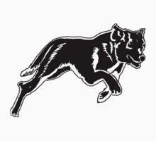 Running Dog silhouette by IowaArtist