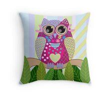 Cute Patterns Owl Pillow Throw Pillow