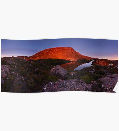 Alpenglow over the Tarn Shelf - Mt Field N.P. Poster