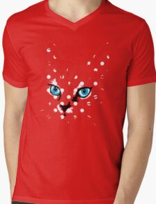 POP ART CAT Mens V-Neck T-Shirt
