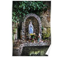 Saint Mary Statue In A Niche Poster
