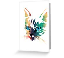 POP ART CAT Greeting Card